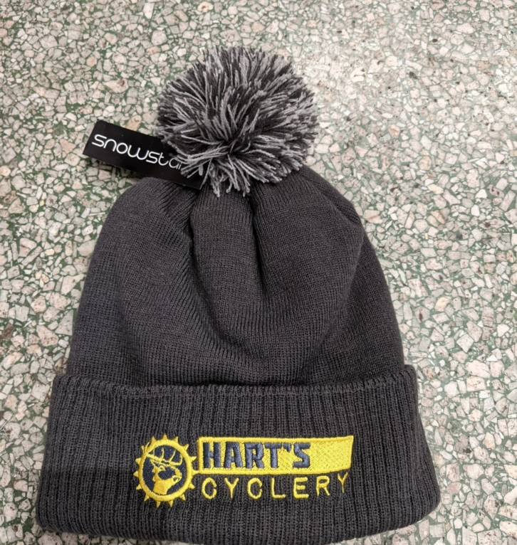 Hart's Cyclery Woolly bobble hat